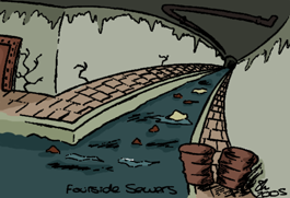 The Fourside Sewers by LalalaKirby