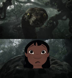 Kaa captures Lilo. by Through-the-movies