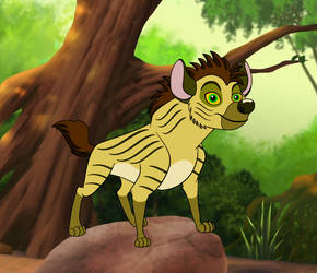 Mehatar the striped hyena. by Through-the-movies