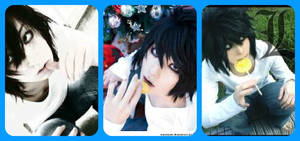 L cosplay collage