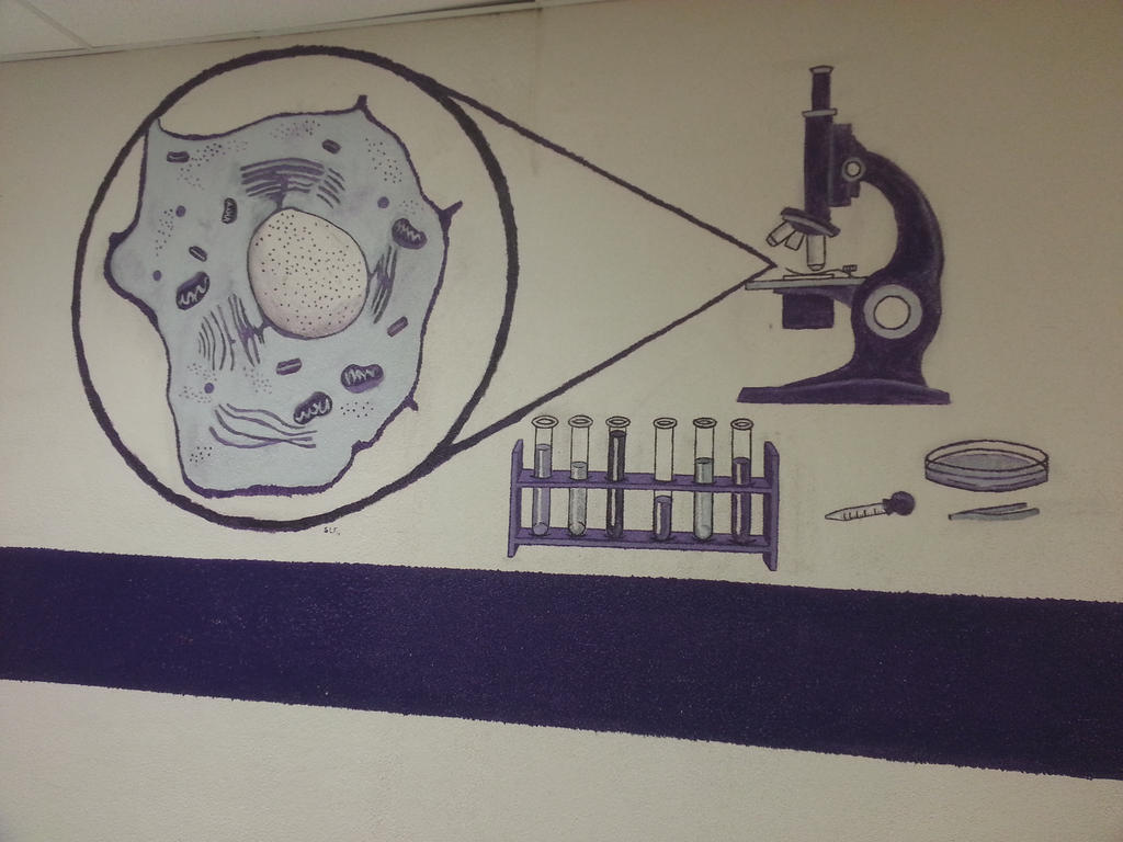 Microscope Mural by Ayanami-The-Nuff