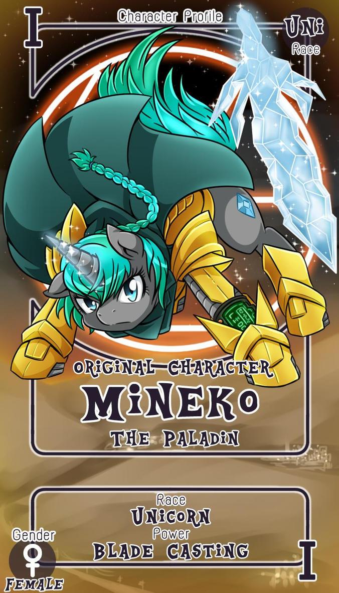 Mineko Character Card by tigreanpony