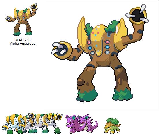 Pokemon Regigigas Pixel Art Grid Images   Pokemon Images
