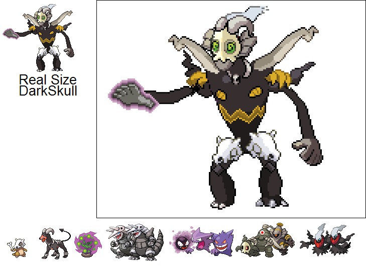 Dark Skull Sprite by scott910