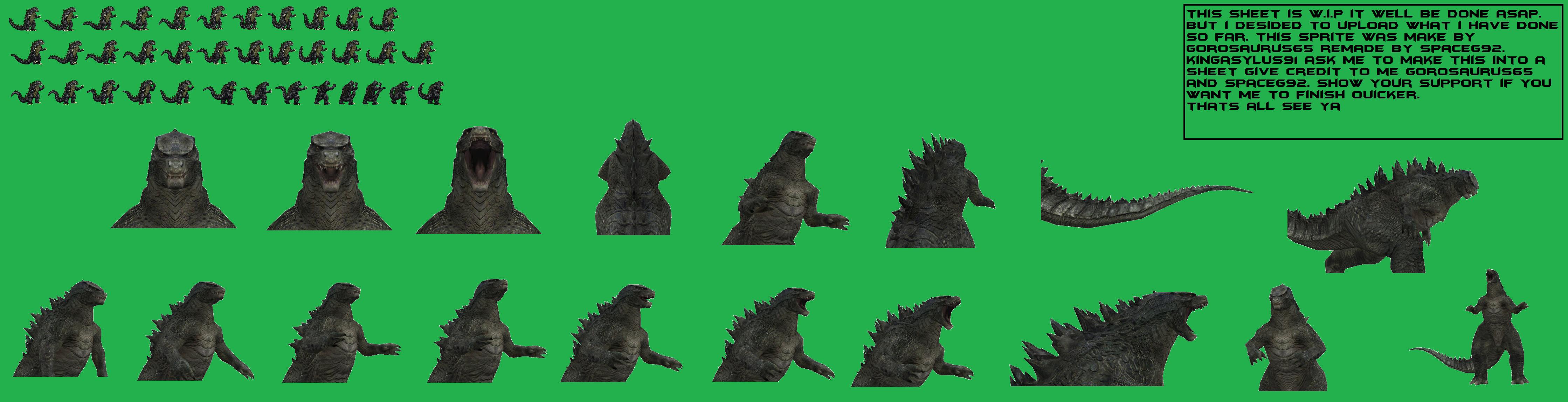 Godzilla 2014 Sprite Wip by scott910