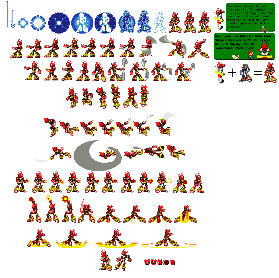 Mack X sprite sheet by scott910