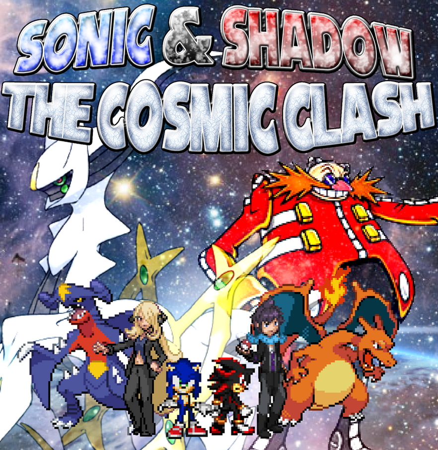 Sonic and Shadow The Cosmic Clash Poster by scott910