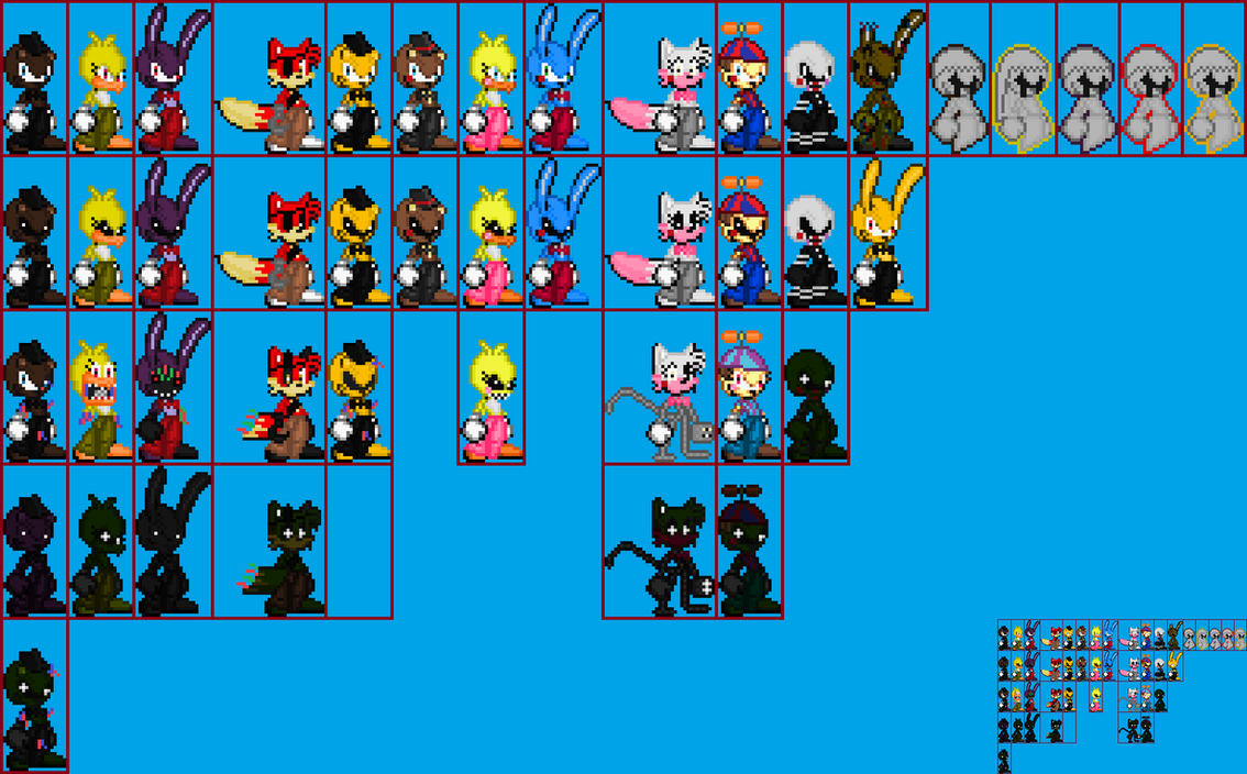 Fnaf 1 2 and 3 sonic style sprites by scott910 on deviantart