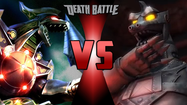 Death Battle Dragonzord vs MechaGodzilla cover by scott910