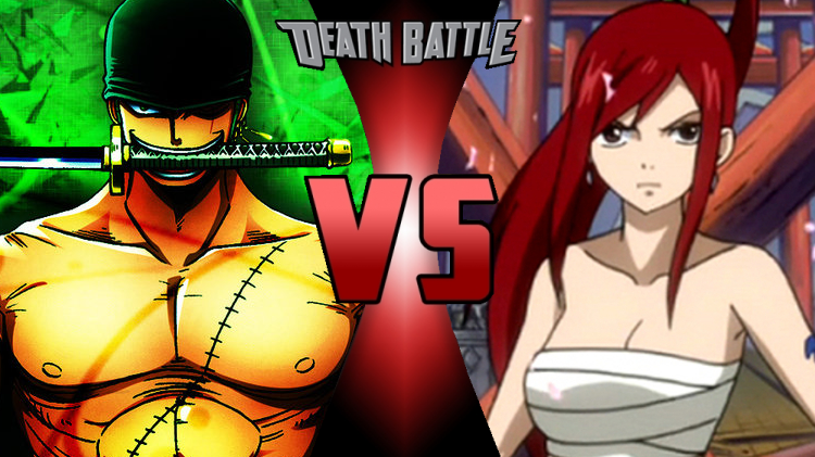 Death Battle Zoro vs Erza cover by scott910