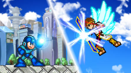 Mega Man vs Pit by scott910