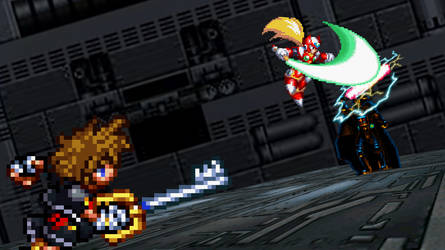 Sora and Zero vs Darth Vader by scott910