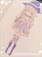 | Purple Witch Adoptable | Auction CLOSED | by CastielTheHalfPigeon