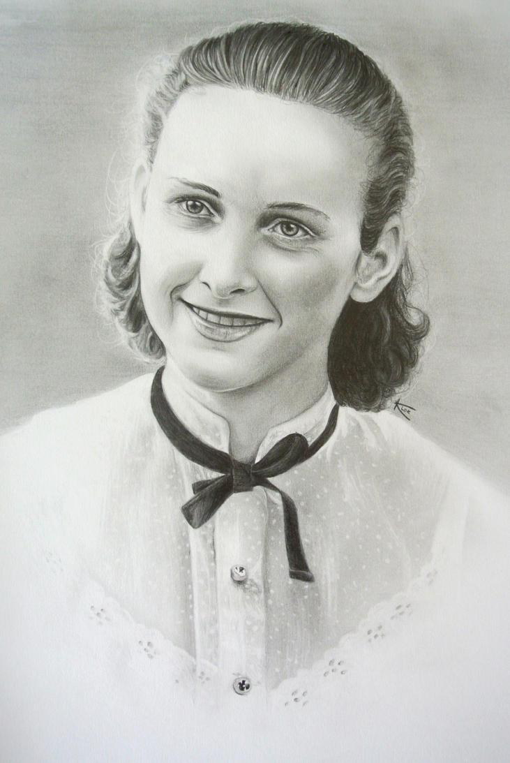 Grandma - old drawing by Kristelok