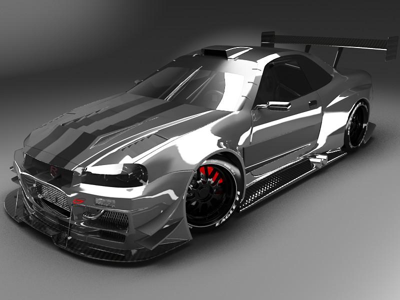 Nissan Skyline R34 GT-R by jesterv2 on DeviantArt