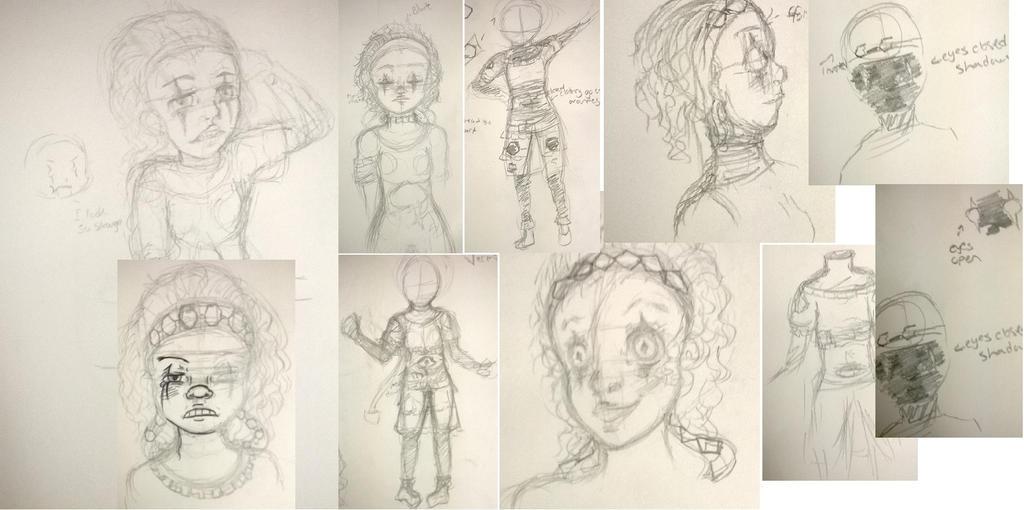 Magaret Vermillion Sketch Design Sheet by VocaloidWolf