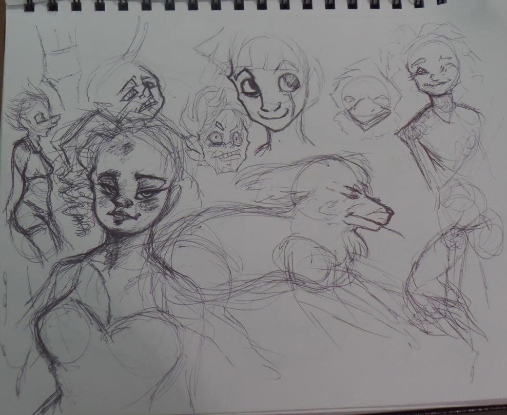 Pen Doodles 2 by VocaloidWolf