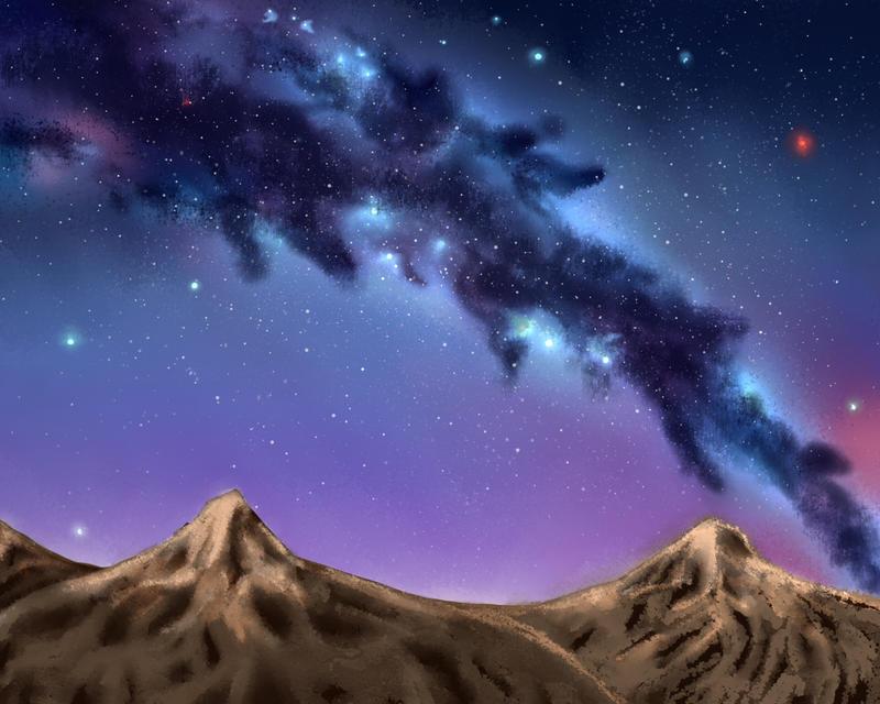 Galaxy Digi Paint by CursedChild95