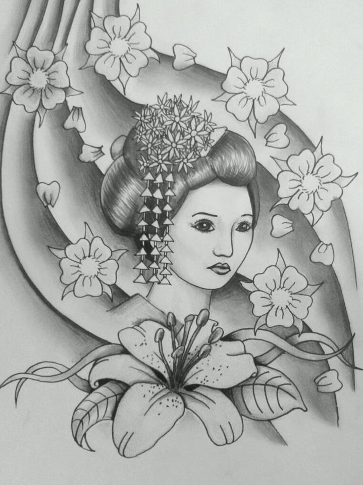 Geisha Black And Grey By 76bev On Deviantart
