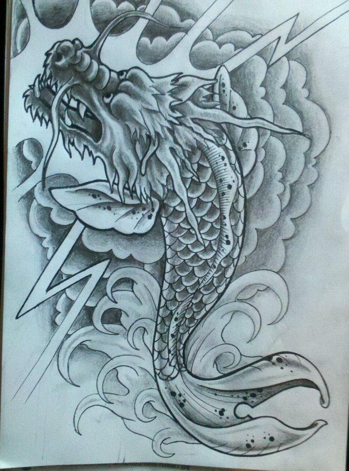 Koi dragon by 76bev on deviantart