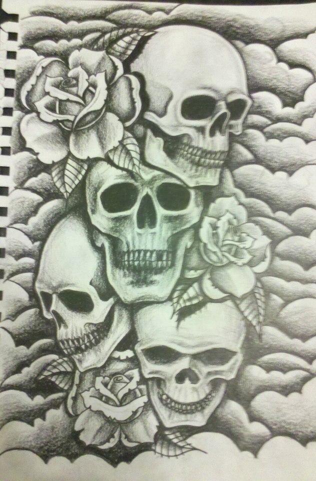 Smokey Skull Tattoo Designs