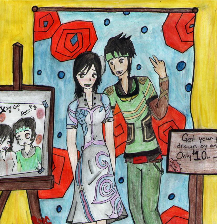 guan ping and xing cai relationship