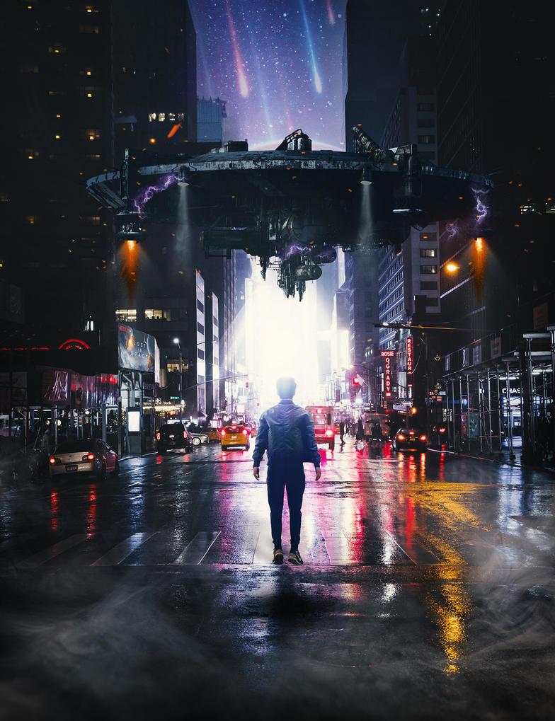 Aliens Curses NYC by GFoxEG