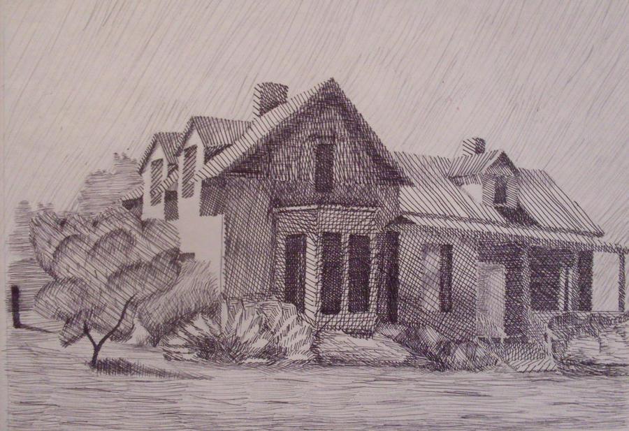 Line Art House : Rural house sketch royalty free vector image vectorstock