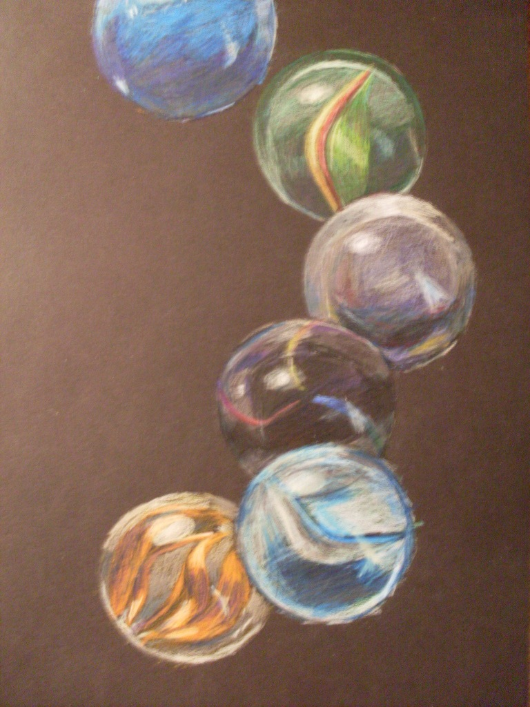 Marble Colored Pencil Drawings Of Clusters : Marbles study in colored pencil by ccdigitgrl on deviantart