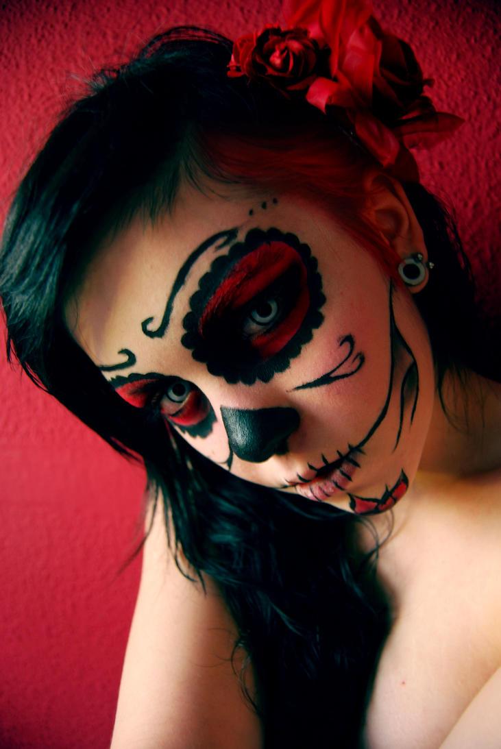 Макияж дьяволицы для хэллоуина