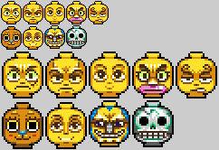 Strawhat lego heads