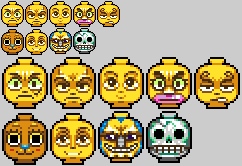 Strawhat lego heads by Neoriceisgood