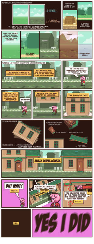 HOW TO MAEK PIXELCOMICS PAERT: 1 backgrounds