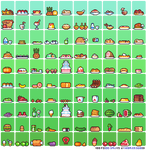 100 Food sprites