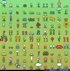 100 Flower Sprites