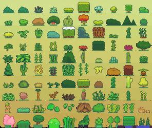 100 Plant Sprites by Neorice