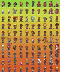 100 Hero oh Hero character sprites