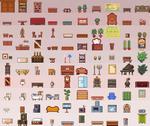 100 furniture sprites