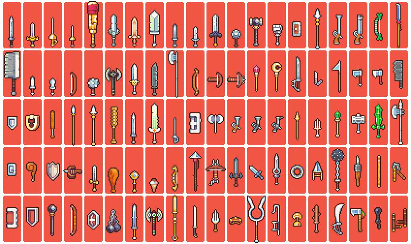 100 Weapon Sprites By Neoriceisgood On Deviantart
