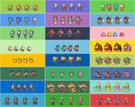 SSB4 E3 Demo character color selections.