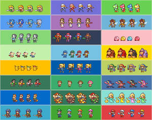 SSB4 E3 Demo character color selections.