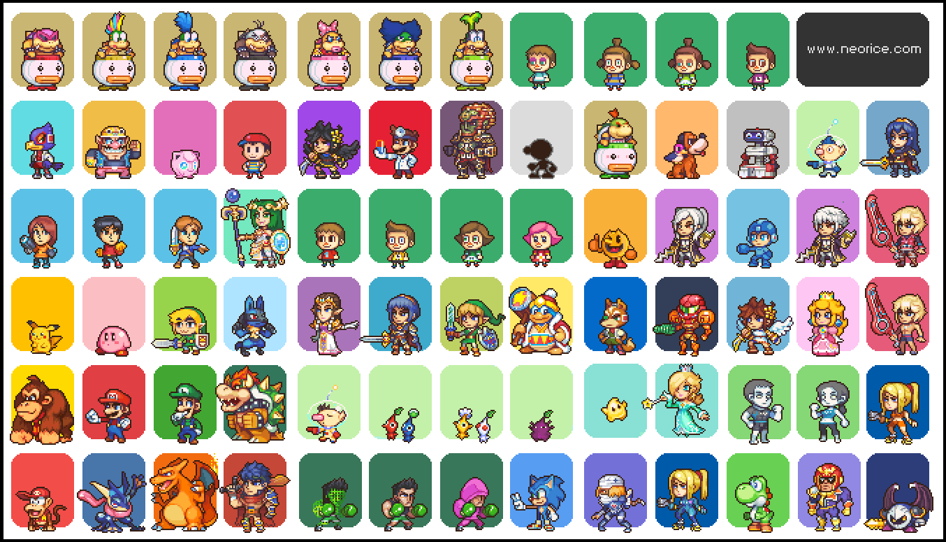 Spoilers super smash brothers 4 roster pixelart by neoriceisgood on