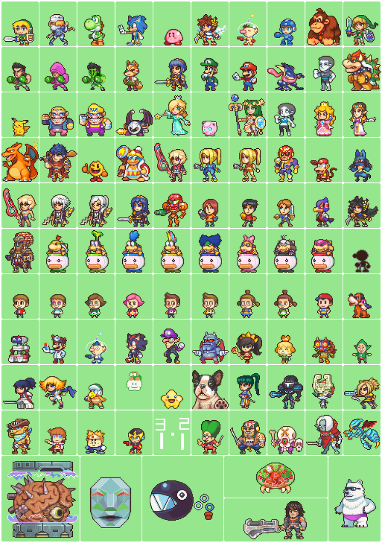 100 SSB4 sprites. by Neoriceisgood