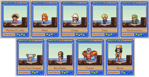 Pixelcards: The Strawhat Crew by Neoriceisgood