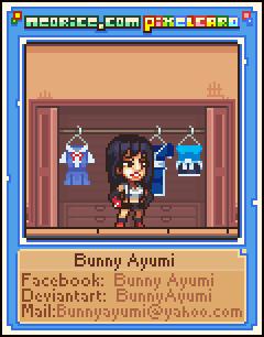 Pixelcard: BunnyAyumi by Neoriceisgood
