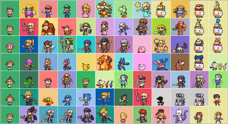 SSB4 complete roster inc DLC and Alts