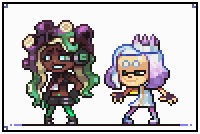 Pearl and Marina pixelart
