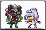 Pearl and Marina pixelart