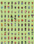 100 Hero oh Hero sprites
