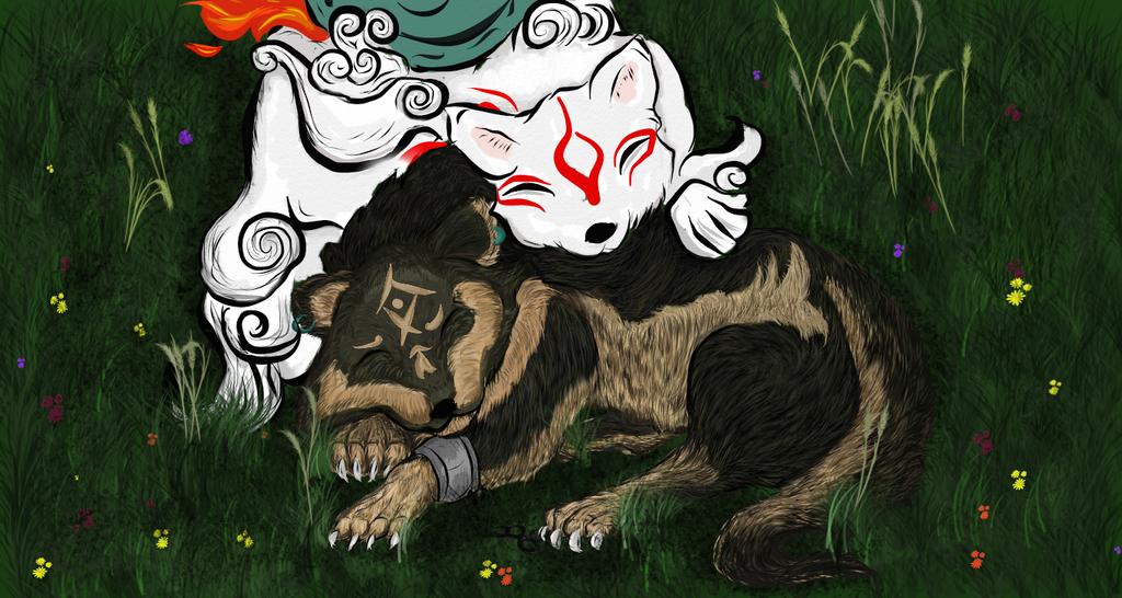 Wolf Link and Amaterasu, 2013 Redo by aikawarazu-desu on ...